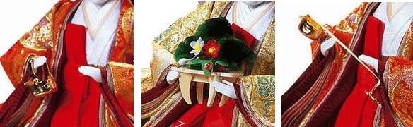 七段飾りの雛人形 三人官女