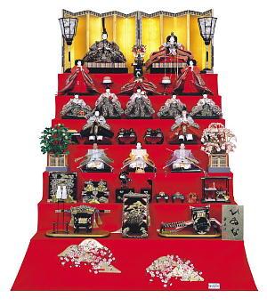 七段飾りの雛人形 飾り方・並べ方