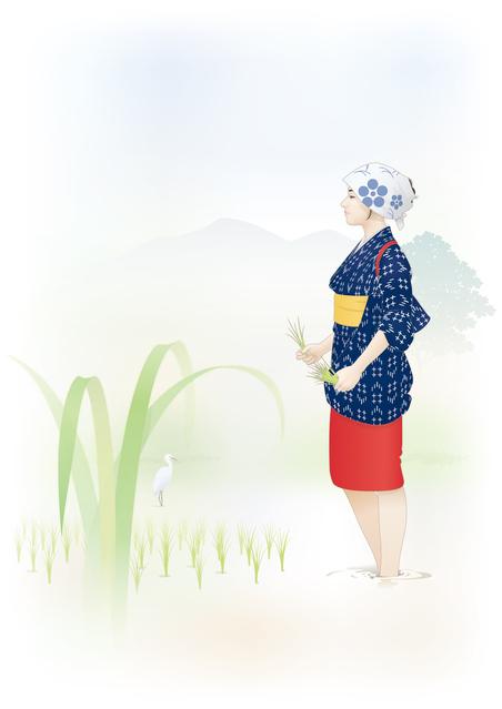 端午の節句は田植えをする早乙女が菖蒲を編む 女の人の節句の日でした