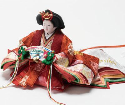 ひな人形・京小十番塗桐平台親王飾りNo1004A 女雛
