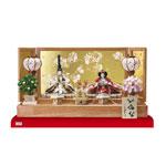 雛人形・京小十番塗桐平台親王飾りNo1004C