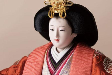 ミニ焼桐平台 京小十番親王飾りの雛人形 No1009C