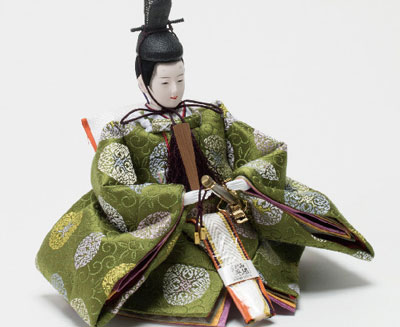 雛人形・京小十番塗桐平台親王飾りNo1009C 男雛