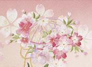 雛人形 親王飾り 焼桐屏風 桜に毬
