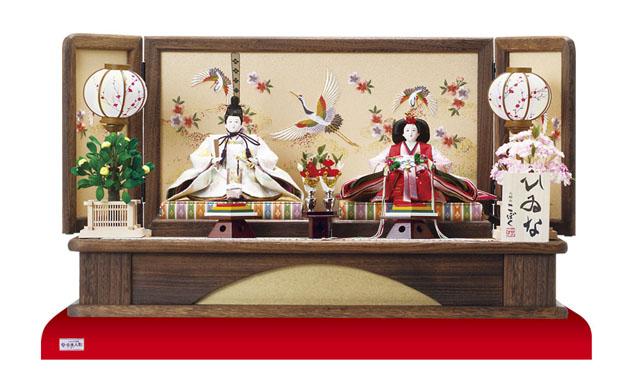 雛人形・京十番焼桐平台親王飾り No1012