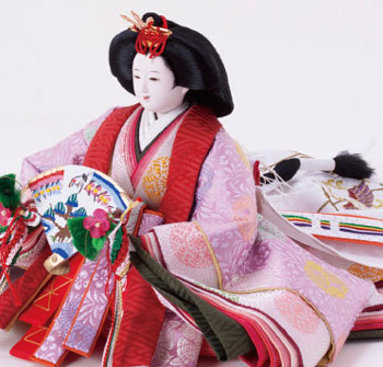雛人形 ・京十番有職文様親王飾り No1012