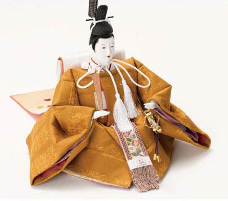 雛人形・京十番焼桐平台親王飾り 黄櫨染親王 No1013