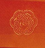 黄丹色鴛鴦丸織文様