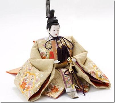 京八番金彩刺繍宝尽くし文様 親王飾り