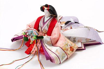 京八番金彩刺繍入り親王焼桐高床台親王飾りNo1032