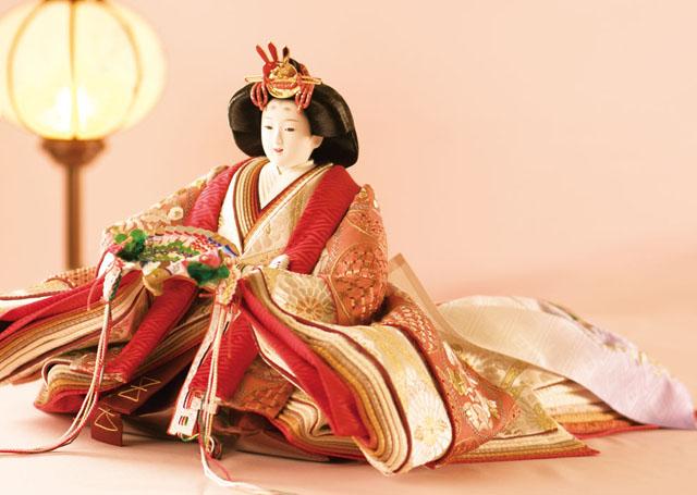 京雛人形・八番親王汕頭刺繍親王飾り