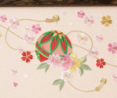 雛人形 おひなさまの屏風 まりの刺繍