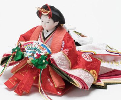 雛人形・京小十二番焼桐平台親王飾りNo1202B 女雛