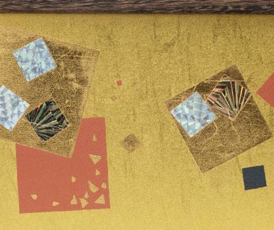 雛人形・京十二番焼桐平台親王飾りNo1203 雛屏風