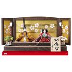 雛人形・京十二番ミニ焼桐平台親王飾り No1303