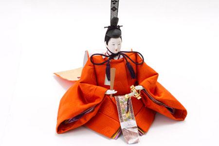 雛人形・京十番親王芥子官女付毛氈三段飾りセット No2010 男雛