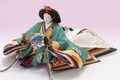 京十番親王芥子官女付毛氈三段飾りセット No2010 女雛