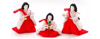 雛人形・京十番親王芥子官女付毛氈三段飾りセット No2010 官女