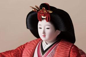 京小十番親王柳官女付焼桐三段飾りセット No2992 女雛のお顔
