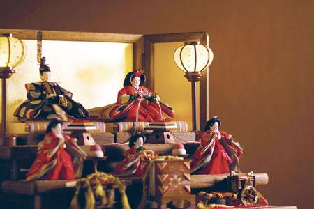 京小十番親王柳官女付焼桐三段飾りセット No2992