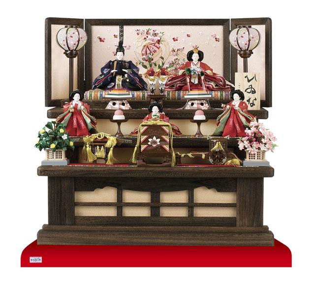 三段飾り 京小十番親王柳官女付焼桐三段飾りセットNo2993