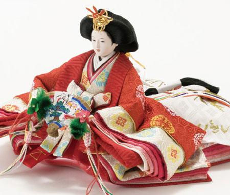 京小十番親王柳官女付焼桐三段飾りセットNo2993 女雛