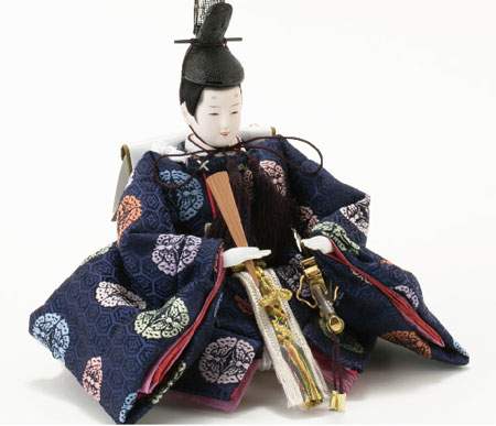 京小十番親王柳官女付焼桐三段飾りセットNo2993 男雛