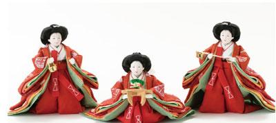 雛人形・京小十番親王柳官女付焼桐三段飾りセットNo2993 官女