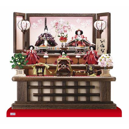 京小十番親王柳官女付焼桐三段飾りセット No3000C