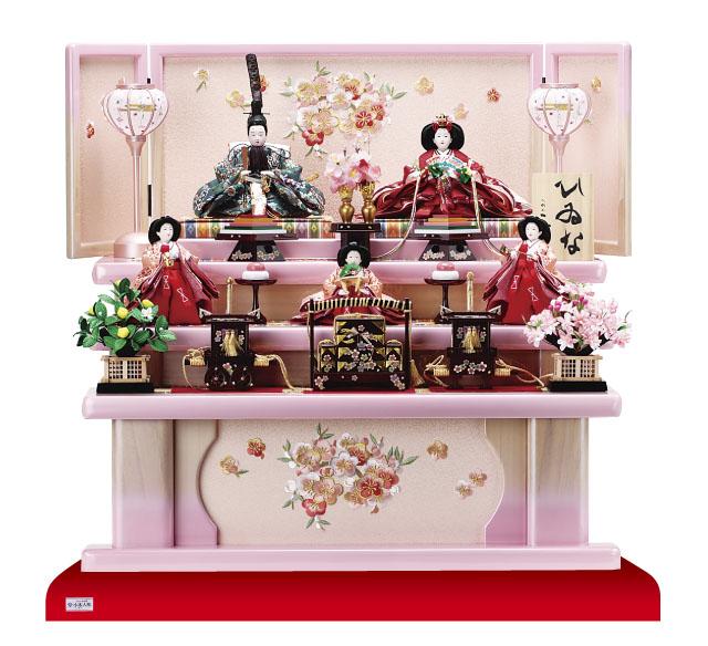京小十番親王柳官女付塗桐三段飾りセットNo3001B