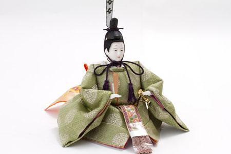 雛人形・京十番親王芥子官女・五人囃子付焼桐三段飾りセット No3010B 男雛