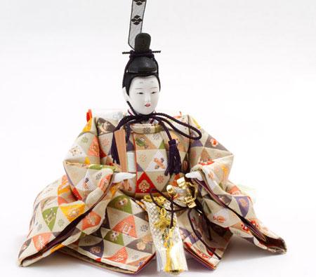 京十番親王芥子官女付焼桐三段飾りセット No3011 殿