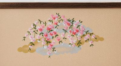 京十番親王芥子官女付焼桐三段飾りセット No3011 雛屏風