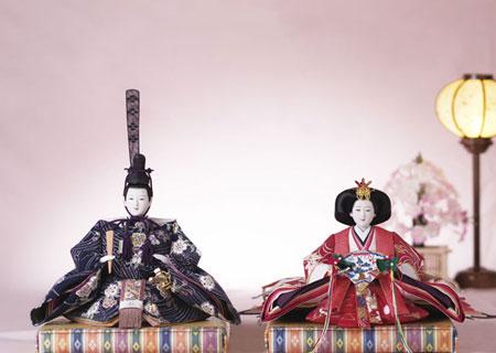 雛人形・京十番親王芥子官女三段飾りNo3012B