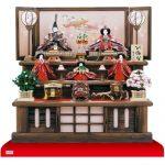 雛人形・京九番親王五寸官女付焼杉三段飾りNo3021