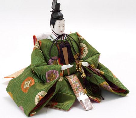 雛人形・京八番親王六寸官女付焼桐三段飾りセット No3031B 殿