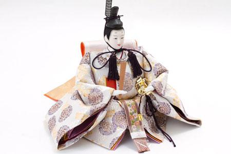 雛人形・京八番親王六寸官女付焼桐三段飾りセット No3032