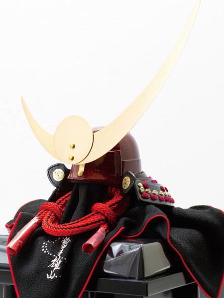五月人形・戦国武将鎧兜 上杉神社蔵 山形県文化財紫糸縅具足模写兜飾りNo3131
