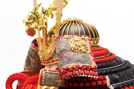 五月人形 広島 厳島社所蔵 重要文化財 黒韋威肩紅の大鎧模写鎧飾り No321I 兜