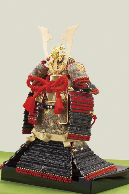 広島 厳島社所蔵 重要文化財 黒韋威肩紅の大鎧模写 鎧飾り No3211