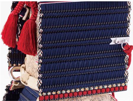 五月人形 広島 厳島神社所蔵  国宝模写  紺糸威大鎧