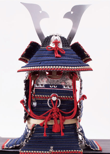 五月人形 広島 厳島神社所蔵  国宝模写  紺糸威大鎧 背面