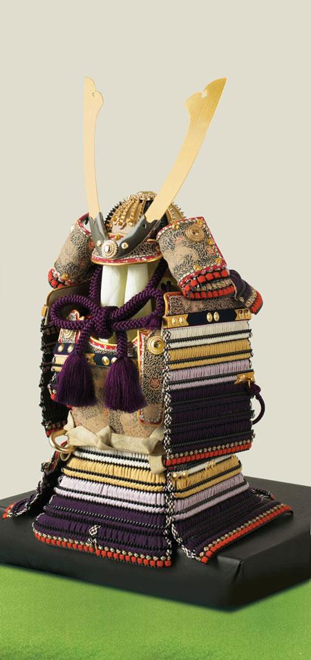 五月人形・東京 御岳神社所蔵 重要文化財 紫裾濃威大鎧模写 鎧兜飾りNo321-G