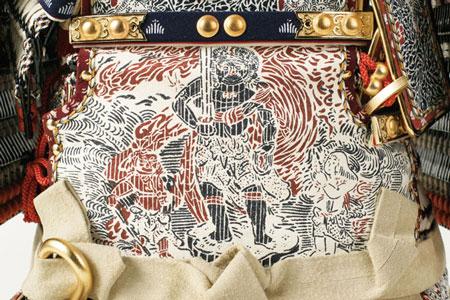 白糸威褄取の大鎧 五分の二模写鎧 メトロポリタン美術館所蔵 鎧兜飾り 弦走り韋