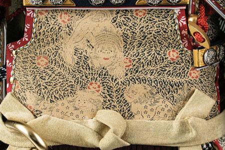 五月人形・大山祇神社所蔵 国宝紫糸威大鎧模写鎧飾りNo321-K 弦走り