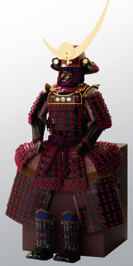 五月人形・上杉神社所蔵 山形県文化財 紫糸威胴丸具足模写 No3231