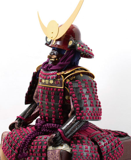 上杉神社所蔵 山形県文化財 紫糸威胴丸具足模写 No3231