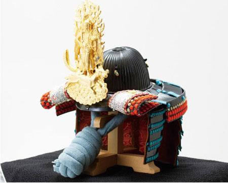 五月人形・重要文化財 色々威腹巻具足模写(飯綱権現前立)兜陣幕飾りNo4131