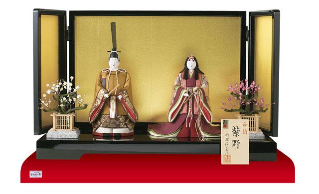雛人形・木目込み親王立雛紫野平台飾り No8700
