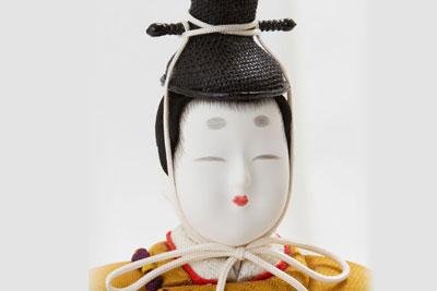 木目込み人形・木目込み親王立雛紫野平台飾り No8700 男雛のお顔